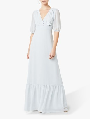 Maids To Measure Mathilda Chiffon Dress, Dove Grey