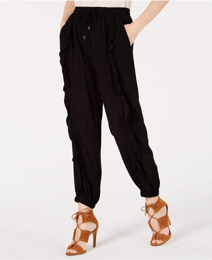 American Rag Juniors' Ruffled Drawstring Pants