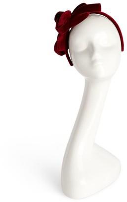 Philip Treacy Velvet Bow Headband