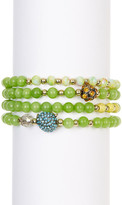 Betsey Johnson Owl Stretch Bracelet Set