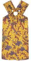 Mango Outlet Printed halter gown