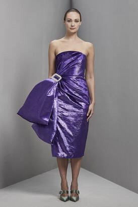 Khoon Hooi Cheyenne Strapless Velvet Fitted Dress