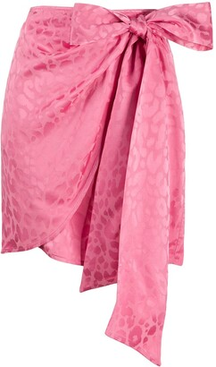 Andamane Camilla leopard print skirt