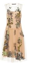 Alberta Ferretti Tulle Drop Waist Dress