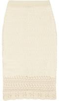 Isabel Marant Dwight Crocheted Cotton Mini Skirt