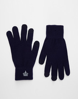 French Connection Touch Screen Gloves - Blue
