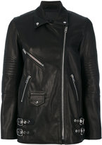 Alexander Wang leather jacket - women - Leather/Polyester - XS