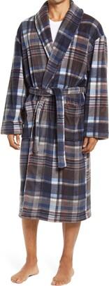 Majestic International Nostalgic Plaid Plush Robe