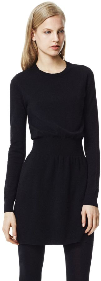 Evian Mertyle Dress in Stretch Wool Blend