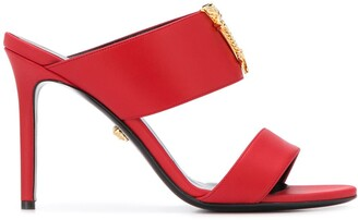 Versace Virtus strappy mules