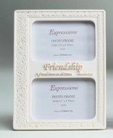 "Roman 8.75"" Inspirational Proverbs Friendship Double 3.5""x5"" Photo Frame"
