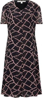 Nougat Cadiz Lattice Print Shirt Dress