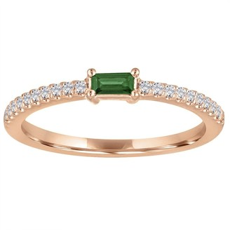 My Story Julia Emerald Rose Gold Ring