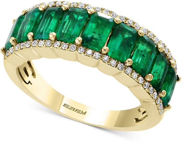 Effy Brasilica by Emerald (2-3/8 ct. t.w.) & Diamond (1/6 ct. t.w.) Ring in 14k Gold