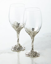 Arthur Court S/2 GRAPE WINE GLASSES