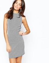 New Look High Neck Ribbed Dress