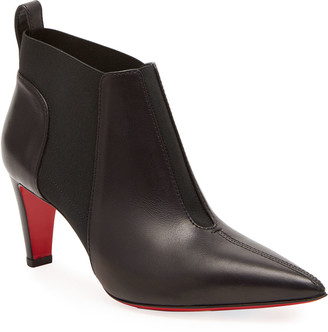 Christian Louboutin Tchaka Gored Red Sole Ankle Booties