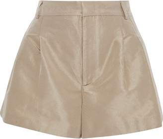 RED Valentino Pleated Faille Shorts