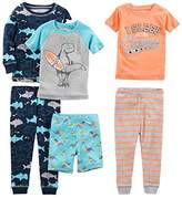 shark pajamas shopstyle simple joys by carter s boys 6 piece snug fit cotton pajama set