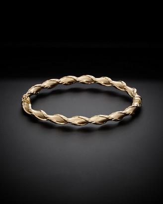 Italian Gold 14K Textured Twist Bangle