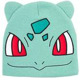Pokemon Bulbasaur Big Face Cuffless Beanie With Ears | Turquoise