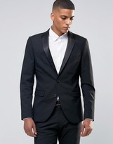 Selected Tuxedo Suit Jacket with Stretch in Slim Fit