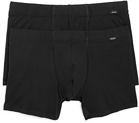 Hanro Cotton Essentials Covered Waistband Boxer Briefs, Pack of 2