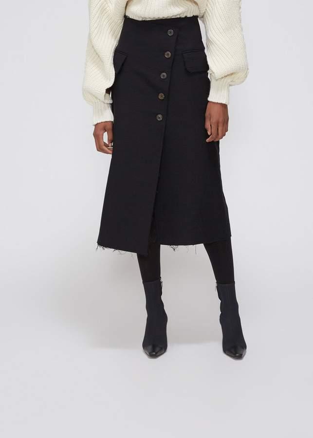 Awake Side Pocket Asymmetric Front Skirt