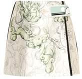 Prada Printed silk-blend miniskirt