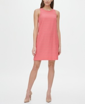 Tommy Hilfiger All Over Stripe Sleeveless Dress