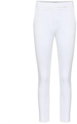 Max Mara Luana high-rise slim cotton pants