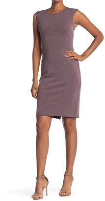 T Tahari Heathered Exposed Zip Sheath Dress