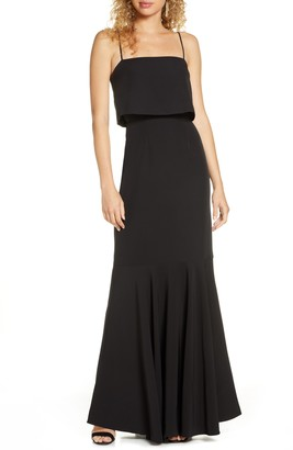 WAYF the Domenic Popover Trumpet Gown