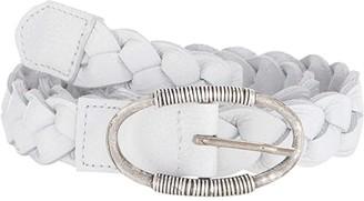 Leather Rock Juno Belt (White) Women's Belts