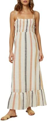 O'Neill Lane Striped Sleeveless Maxi Dress