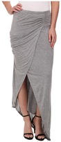 Michael Stars Collection Draped Skirt w/ Asymmetrical Hem