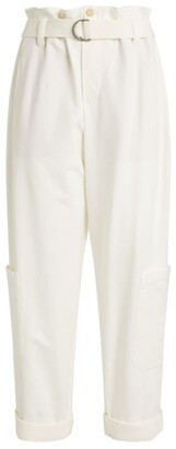 Brunello Cucinelli Stretch-Cotton Belted Trousers