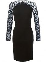 Stella McCartney sheer sleeve dress