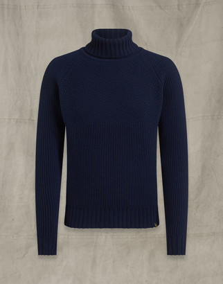 Belstaff MARINE ROLL NECK Blue