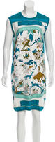 Hermes Hemisphaerium Coeli Boreale Silk Dress