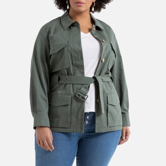 La Redoute Collections Plus Cotton Straight Utility Jacket