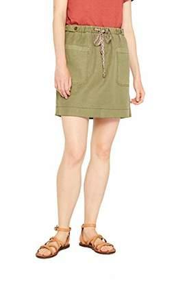 Esprit edc by Women's 079cc1d008 Skirt, Khaki Green 350, 18 (Size: )