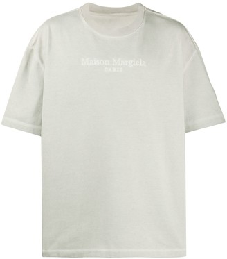 Maison Margiela embroidered logo T-shirt