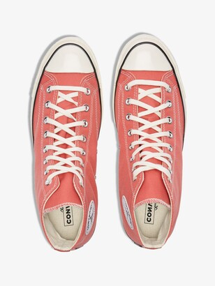 Converse Red Orange Chuck 70 High Top Sneakers
