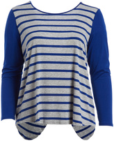Paparazzi Royal Blue Stripe Slit-Back Tunic - Plus
