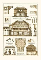 Buyenlarge Roman Domical Vaulting 28x42 Giclee On Canvas