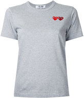 Comme des Garcons double heart T-shirt - women - Cotton - S