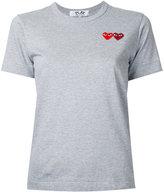 Comme des Garcons double heart T-shirt - women - Cotton - XS