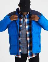American Eagle Outfitters AE Colorblock Mock Neck Puffer Jacket