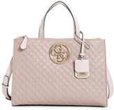 GUESS G-Lux Quilted Satchel